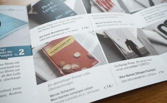 Buchprospekt edition kürbis