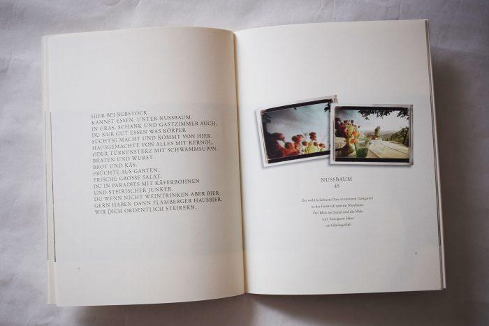 Seite aus der Werbebroschüre des Weingutes Harkamp (2008): geniale Kombination aus gut geschriebenem Infotext und literarischem Text