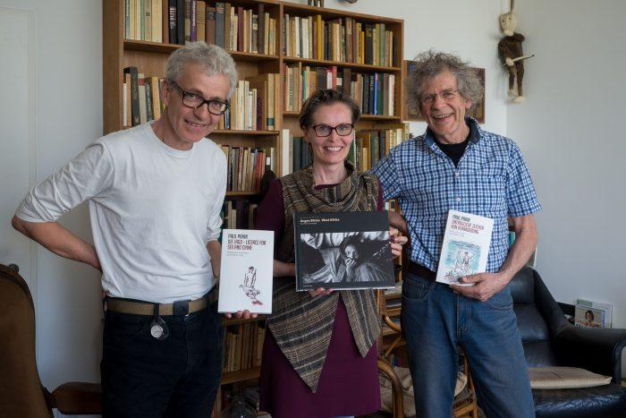 Michael Reichmayr, Christine Korischek und Johannes Reichmayr im Parin-Zimmer am der Sigmund-Freud-Universität, Wien